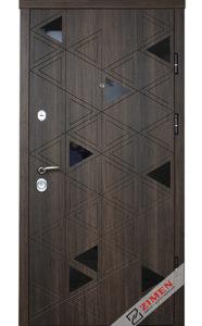 Входная дверь  «Cristal» ( дуб табака ) Zimen™