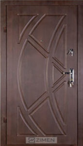 Входная дверь  «Викинг» (темный орех) Zimen™