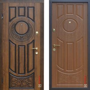 Входные двери «179 Luck» Vinorit Дуб золотой + патина ™ Abwehr