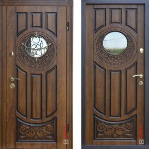 Входная дверь «179 Luck»+ ковка  Vinorit Дуб золотой + патина ™ Abwehr