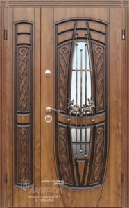 Входная дверь «209 Gracia «+ ковка  Vinorit Дуб золотой + патина ™ Abwehr