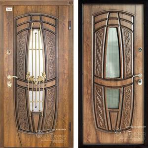 Входная дверь «209 Luck»+ ковка  Vinorit Дуб золотой + патина ™ Abwehr