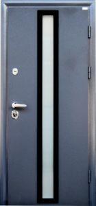 Входная, уличная дверь, МОДЕЛЬ «СТАТУС SGB» ГРАФИТ