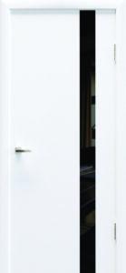 Крашеные двери «Колори» Art 01 черное стекло