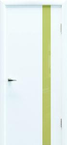 Крашеные двери «Колори» Art 04 молочное стекло