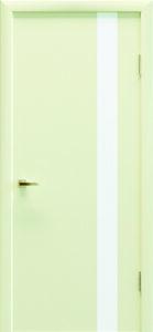Крашеные двери «Колори» Art 03 белое стекло